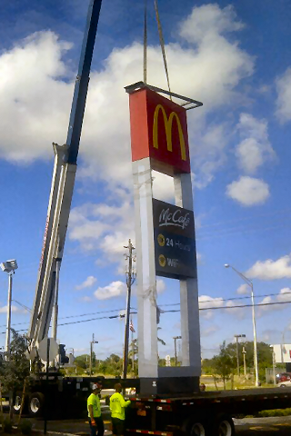 Commercial Sign Lifting & Truss Lifting in Broward