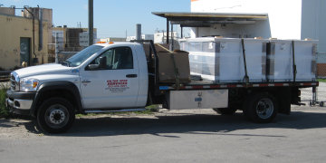 Flatbed/Lowboy Truck: Equipment Rental Miami FL